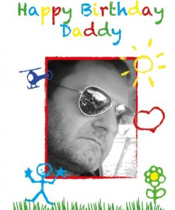 Happy birthday daddy personalised card