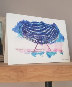 Watercolour Print Halo Greetings Card.