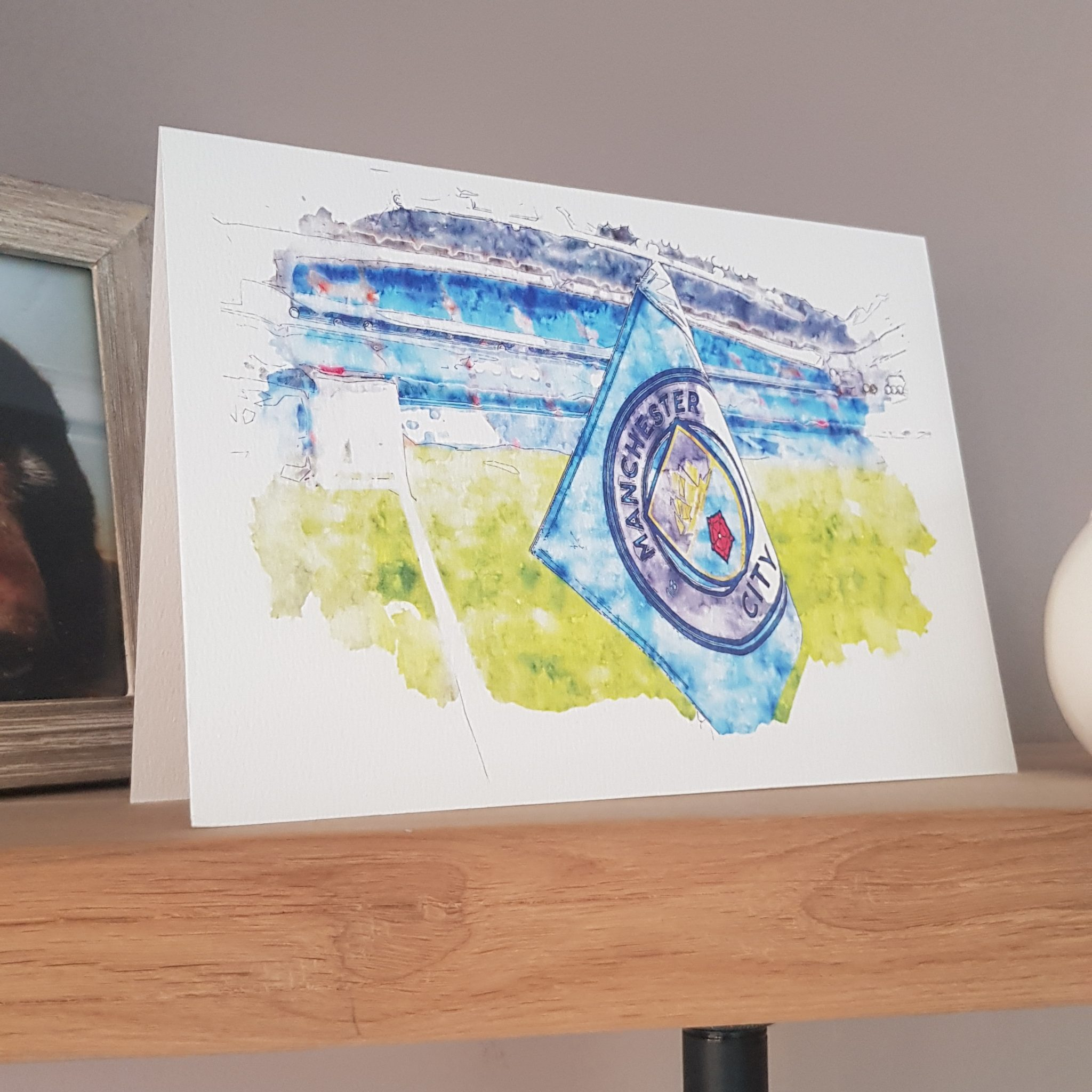 Manchester City FC Greetings Card