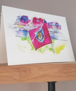 Watercolour Burnley FC Card