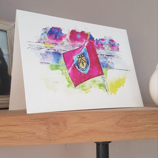 Watercolour Burnley FC Card