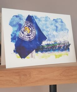 Watercolour Leicester City FC Card