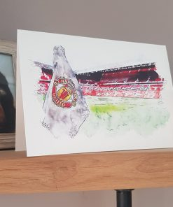 Watercolour Man Utd FC Card
