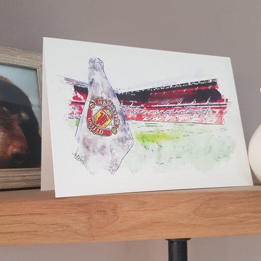 Watercolour Man Utd FC Card